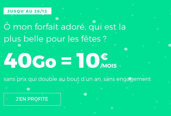 10€pour 40 Go de 4G avec le forfait pas cher de RED by SFR.
