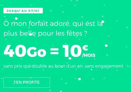 2019 a la classe chez RED by SFR : un forfait pas cher avec 40 Go d'Internet 4G, sans engagement et à vie.