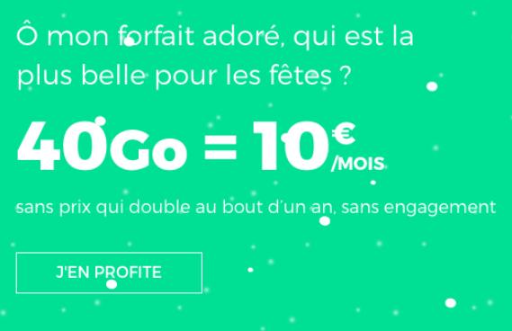 40 Go de 4G avec le forfait sans engagement à bas prix de RED by SFR.