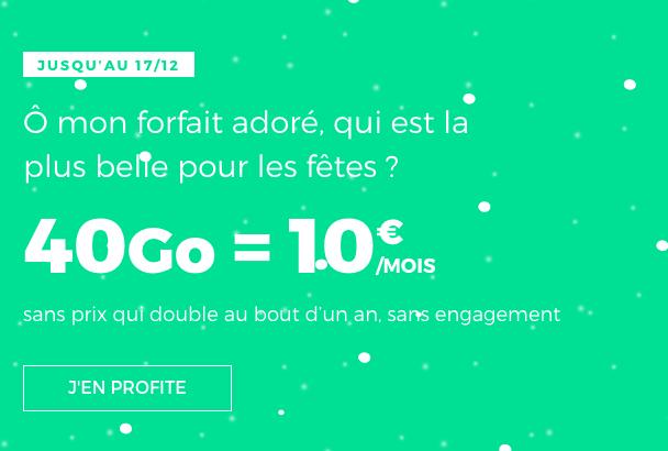 10 Go pour 40 Go de 4G, le bon plan de RED by SFR pour un forfait pas cher à Noël.