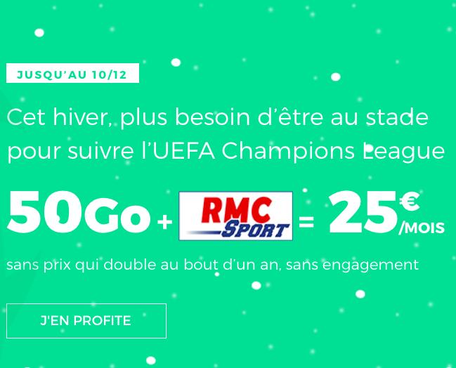 Forfait sans engagement avec RMC Sport pas cher chez RED by SFR.