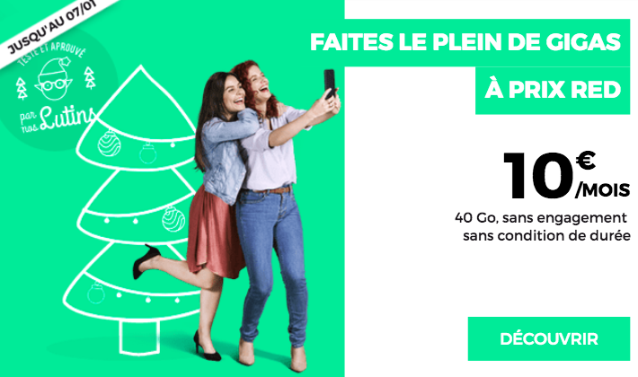 Forfait RED by SFR 10€.