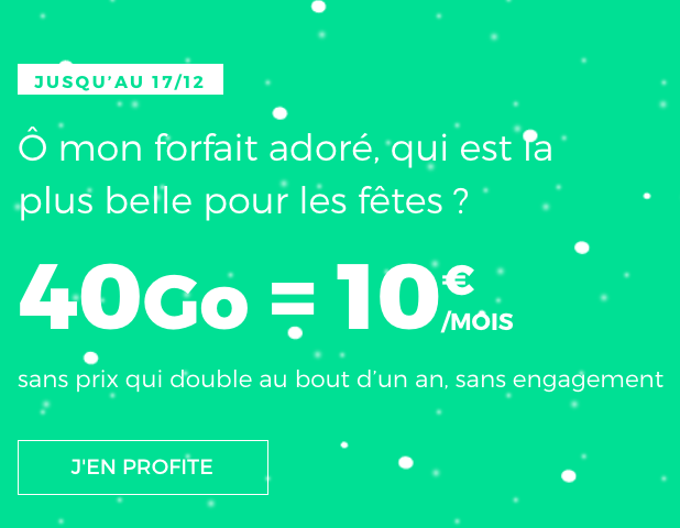 RED by SFR propose un forfait 4G pas cher pour Noel.