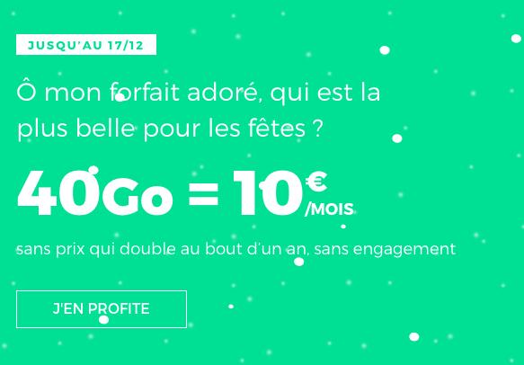 Forfait pas cher, sans engagement et à vie chez RED by SFR pour Noël.