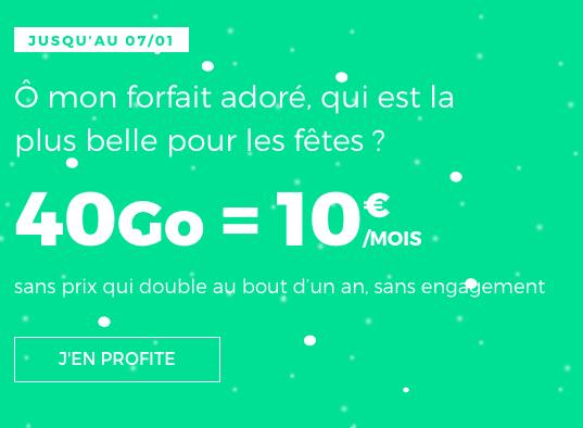 40 Go de 4G pour 10€, le forfait pas cher et sans engagement de RED by SFR.