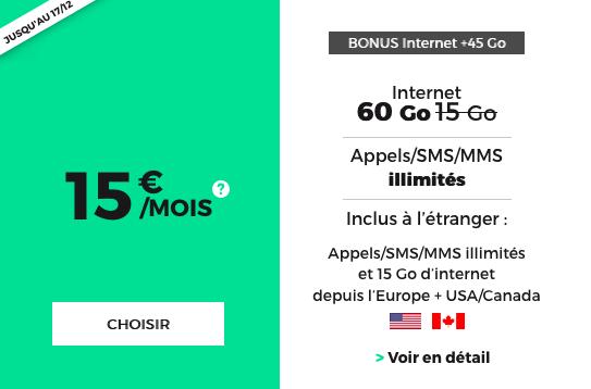 Pour Noël, RED by SFR propose un forfait pas cher, sans engagement et à vie, doté de 60 Go d'Internet 4G.