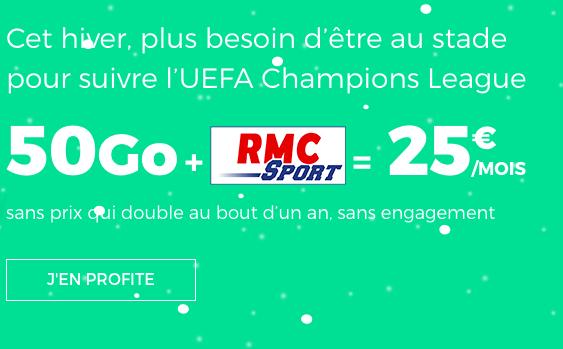 RMC Sport inclus dans un forfait pas cher et sans engagement chez RED by SFR.