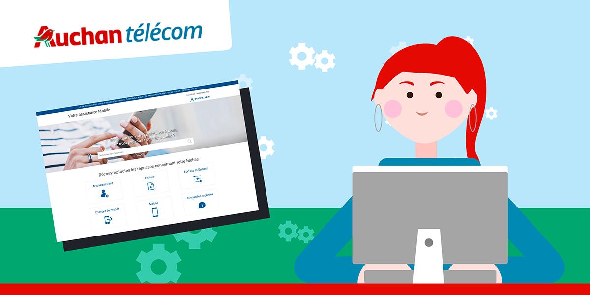 Site internet SAV Auchan Telecom