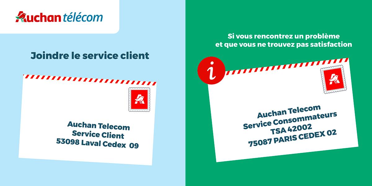 Contact service client Auchan telecom