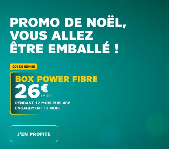Box internet fibre optique en promo pour abaisser le coût du forfait avec le Huawei P20 Pro pas cher pour Noël.