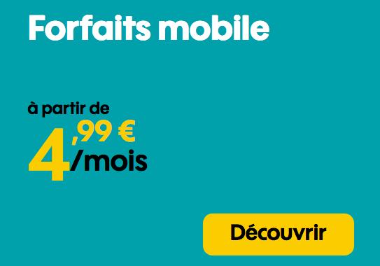 Promotion Forfait mobile 4G en promotion.