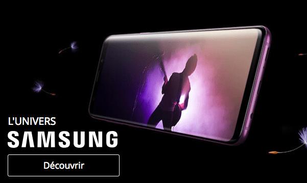 Bons plans sur les smartphones Samsung Galaxy S9 et S9+.