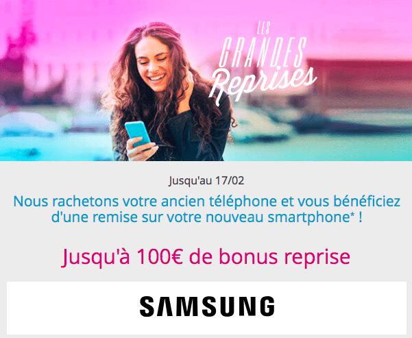 Les bonus de reprise de Bouygues Telecom.