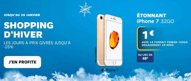 Les iPhone en promotion dès 1€ avec SFR.