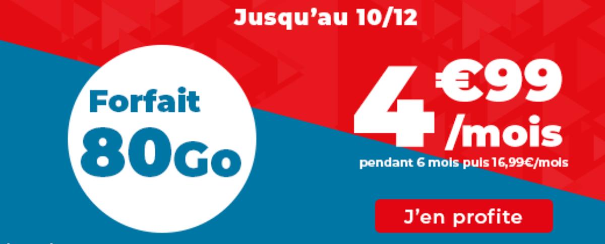 Forfait en promo Auchan Telecom.