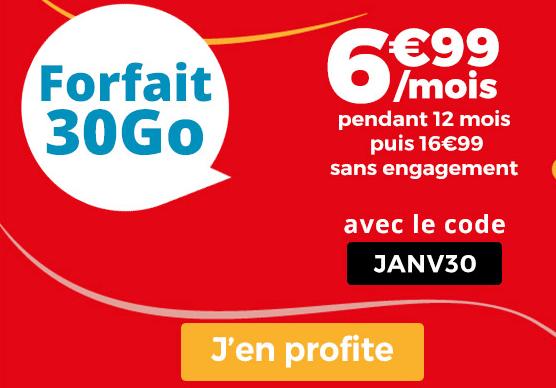 Forfait mobile Auchan Télécom en promotion pour les soldes d'hiver.