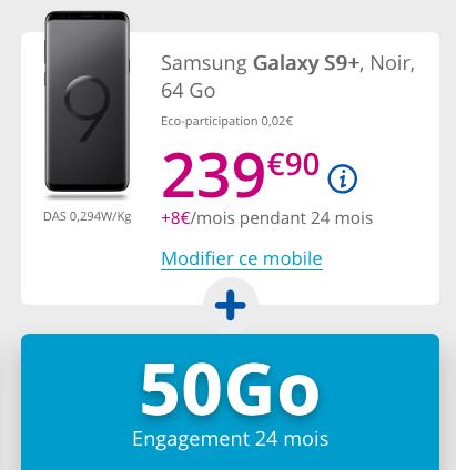 Soldes d'hiver 2019 chez Bouygues Telecom avec Galaxy S9+ pas cher.