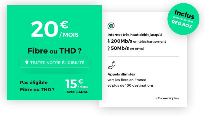 La RED Box avec la fibre optique à 20€ par mois.