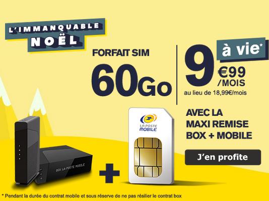 Box internet pas chère et forfait à bas prix : les bons plans de La Poste Mobile.