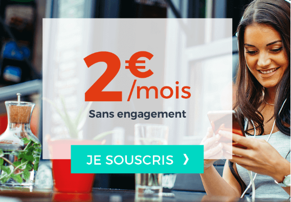 Forfait pas cher à 2€ chez Cdiscount mobile, sans engagement.