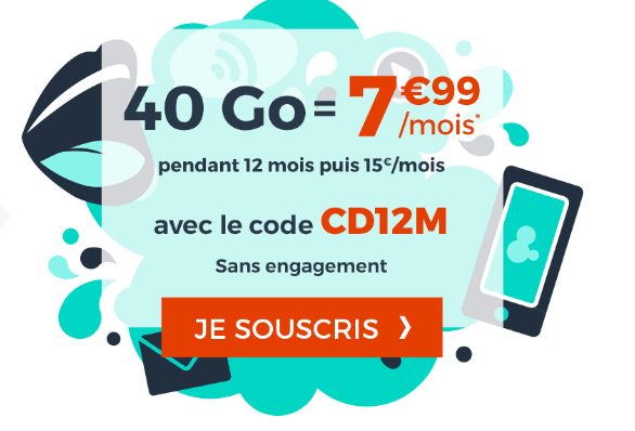 Forfait Cdiscount Mobile 4G promotion soldes.