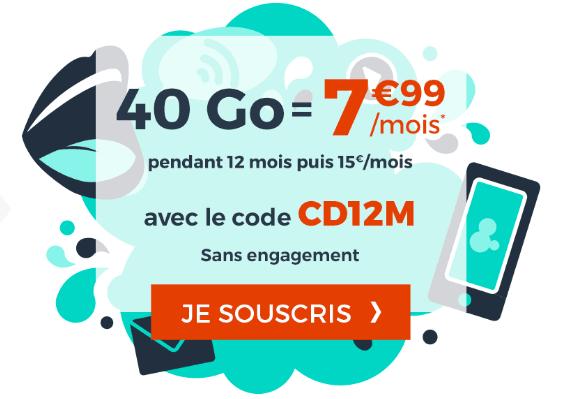 Forfait Cdiscount Mobile promotion pas cher.
