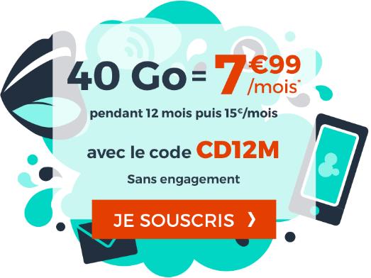 50% de remise sur le forfait 4G de Cdiscount Mobile pour les soldes d'hiver.
