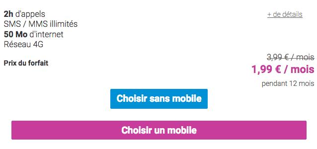 Coriolis Télécom promotion forfait mobile à 2€/mois.