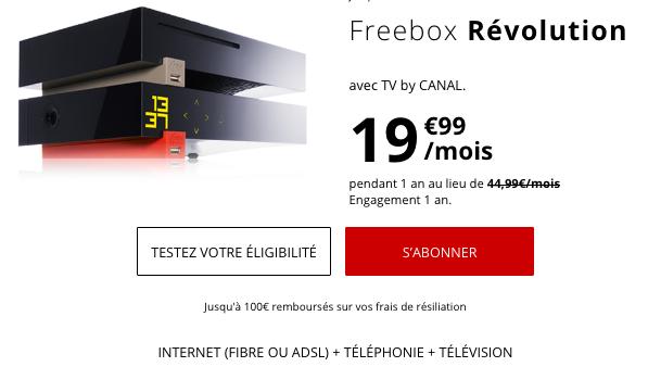 Box internet pas chère en ADSL ou fibre optique chez Free pour accompagner un forfait à prix cassés.
