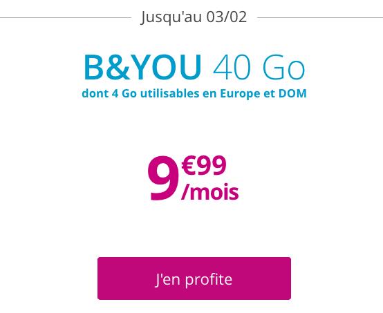 Bon plan pour un abonnement mobile à bas prix avec la promo forfait de B&YOU.