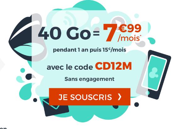 Code promo pour un forfait pas cher chez Cdiscount Mobile.