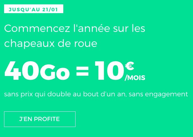 RED by SFR et le forfait pas cher doté de 40 Go pour 10€.