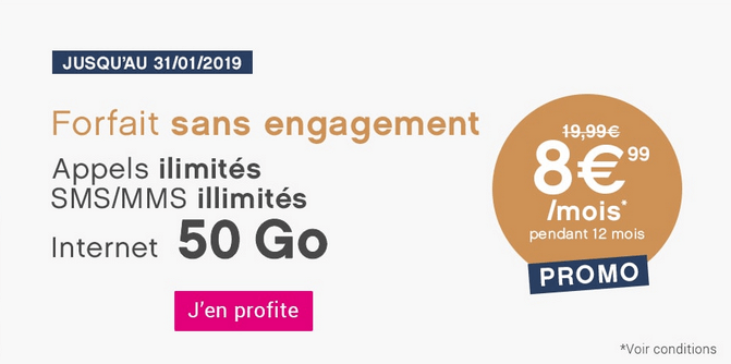 Promotion forfait 4G pas cher chez Coriolis Télécom.