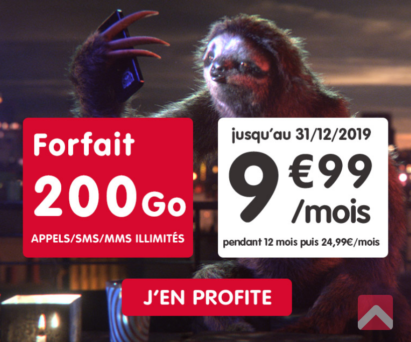le forfait black friday de NRJ Mobile