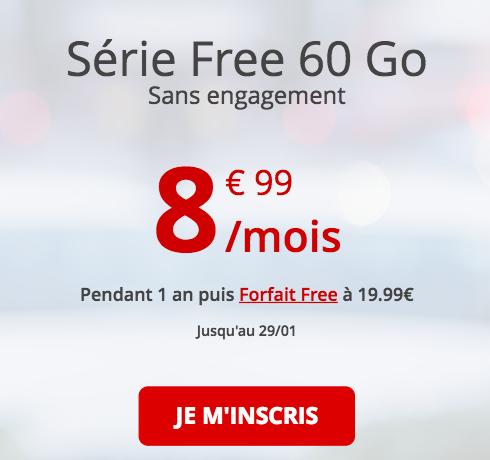 Le forfait 4G Free en promo