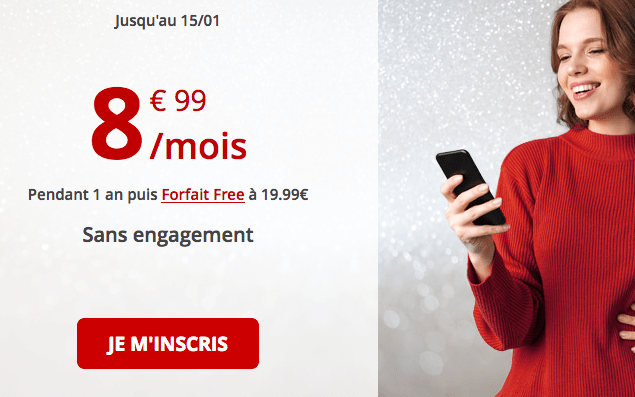 Free mobile promotion forfait 4G pas cher.