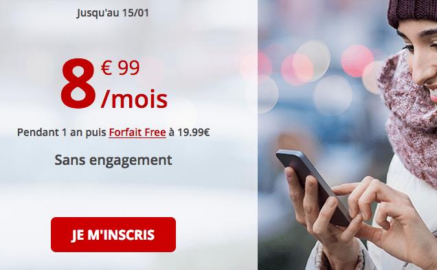 Forfait Free en promotion avec 50 Go de 4G pas cher.