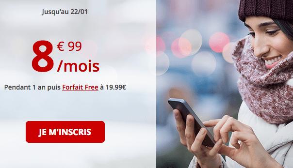Promotion forfait mobile Free avec 60 Go de 4G pas cher.