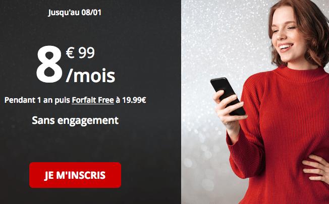 Forfait Free promotion riche en 4G.