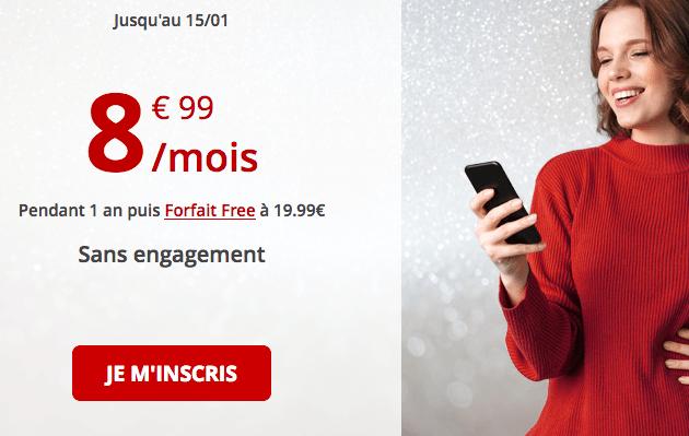 Forfait mobile Free en solde et sans engagement.