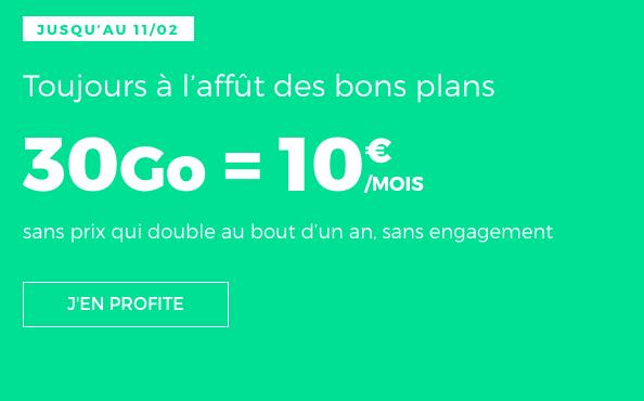 Promotion valable à vie chez RED by SFR pour un forfait 4G pas cher.