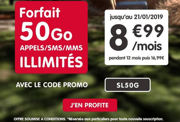 Promotion Forfait NRJ Mobile 50 Go.