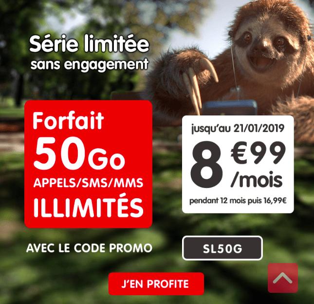 Le forfait 50 Go de NRJ Mobile.