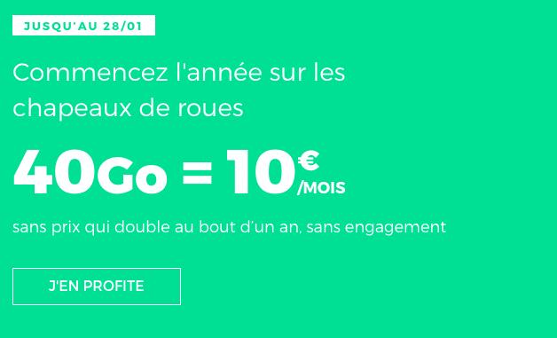 Promotion forfait mobile RED by SFR avec 40 Go de data.