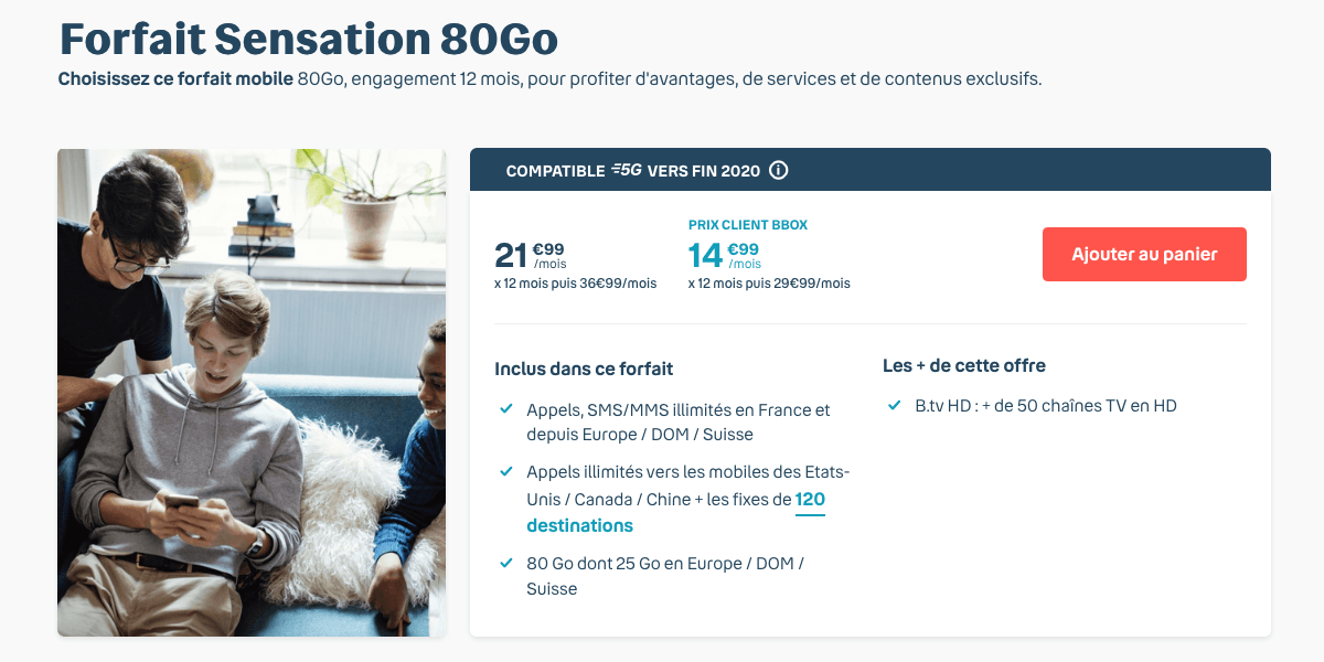 Forfait Sensation 80 Go.