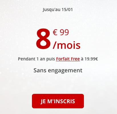 Free Mobile et la promo pour un forfait pas cher avec 50 go de 4G.