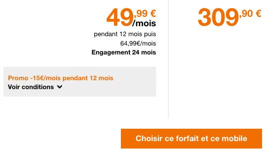 L'iPhone XR à bas prix chez Orange avec un forfait illimité.