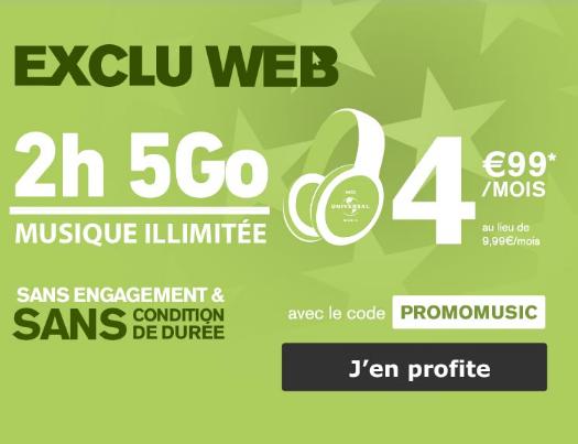 Le forfait de La Poste Mobile à moins de 5€, une promo pas chère.