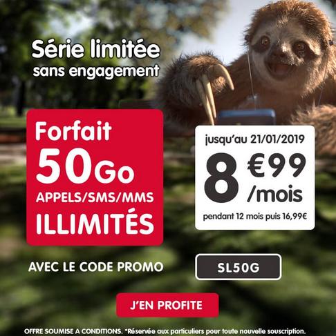 NRJ Mobile et l'offre sans engagement pour un forfait 4G en promo pour les soldes d'hiver.