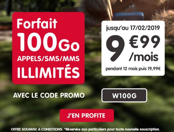 Forfait pas cher avec 100 Go de 4G chez NRJ Mobile, sans engagement.